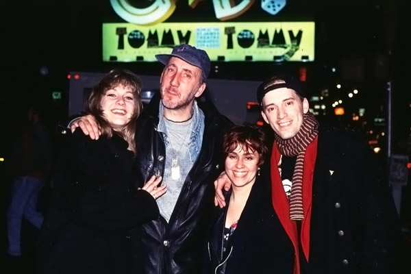 Pete Townshend with cast members of Tommy