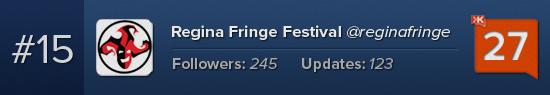 Regina Fringe Festival Klout