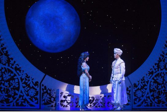 Courtney Reed and Adam Jacobs as Jasmine and Aladdin Photo Cylla Von Tiedemann