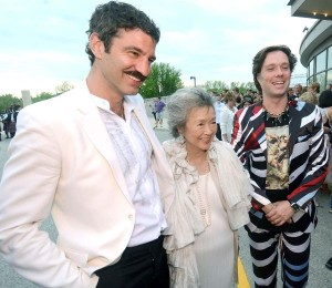 Jorn Weisbrodt, Adrienne Clarkson and Rufus Wainwrigh