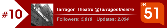 Klout Score for Tarragon Theatre