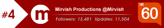 Klout Score for Mirvish Productions