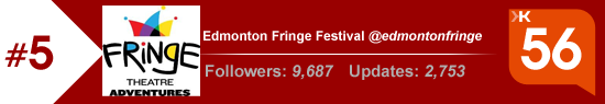 Klout score for the Edmonton Fringe Festival