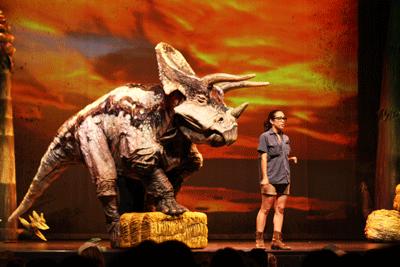 Erth's dinosuar zoo, Toronto, Mirvish,  Triceratops