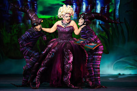 Thomas Alderson, Kristen Peace, Gregory Pember, The Little Mermaid, Dunfield Theatre Cambridge