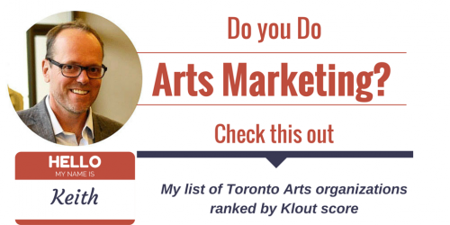 Toronto Theatre Klout Rankings 2014, Toronto Klout scores, arts marketing,
