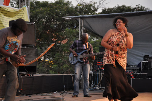 Bayimba International Arts Festival in Kampala, Uganda, , spring works, sound of the beast, Donna-Michelle St Bernard