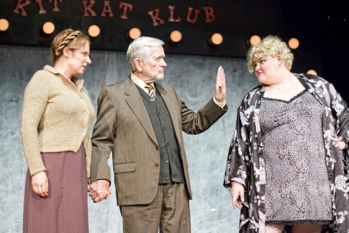 Kristen Keller, Paul Rempel, and Chloe Weir, St. Mary's community players, cabaret