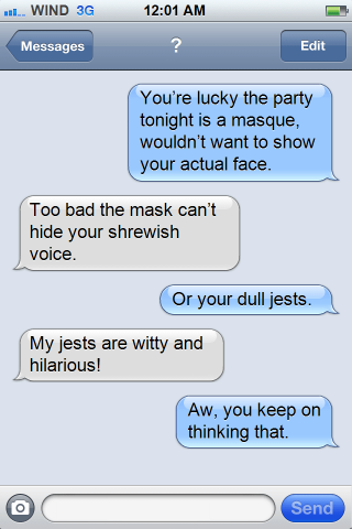 Shakespeare Lovers Texting