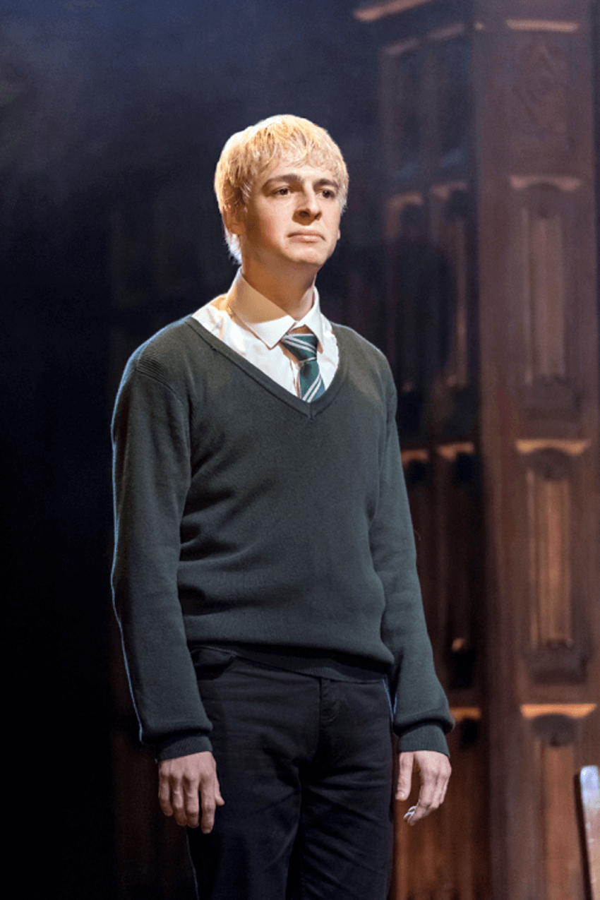 ", ""Harry Potter and the Cursed Child"", London's west end reviewsAnthony Boyle as Scorpius Malfoy."
