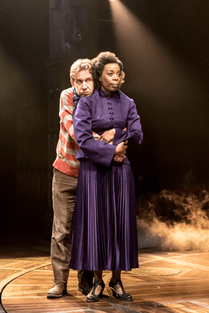 "Paul Thornley as Ron Weasley and Noma Dumezweni as Hermione Granger, ""Harry Potter and the Cursed Child"", London's west end reviews"