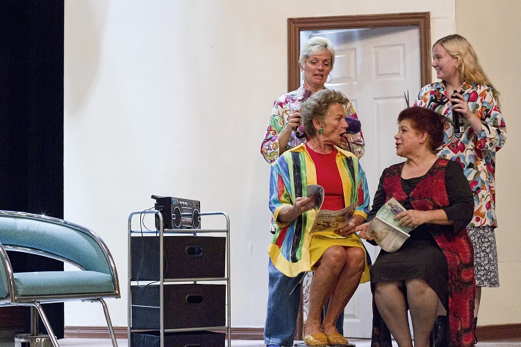 "Left to right, back to front: Patti Muma-Cook and Rachel Brewer, LauraJean McCann and Aviva Kay in ""Steel Magnolias"" by the St. Marys Community Players"