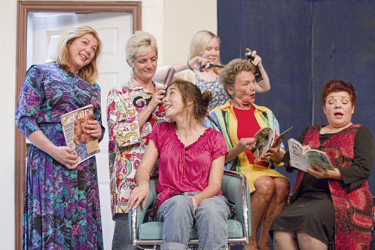 "Left to Right: Leasa Barclay, Patti Muma-Cook, Rachel Brewer , Julia Gwyn, LauraJean McCann, and Aviva Kay in ""Steel Magnolias"" by the St. Marys Community Players"
