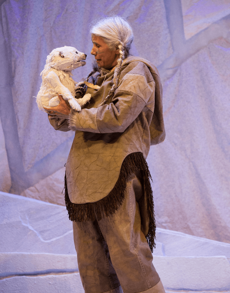 Stratford Festival, Jani Lauzon as Huumittuq in The Breathing Hole. Photography by Cylla von Tiedemann.