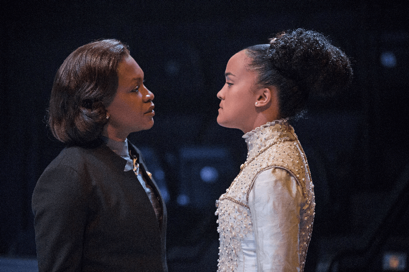 Stratford Festival, Yanna McIntosha and Bahia Watson, in The Virgin Trial