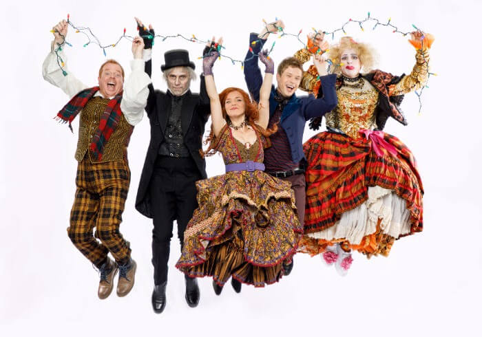 A Christmas Carol, the Family Musical with a Scrooge Loose, Eddie Glen as Cratchit, Cyrus Lane as Scrooge, AJ Bridel as Jane, Kyle Golemba as Jack, Dan Chameroy as Plumbum.