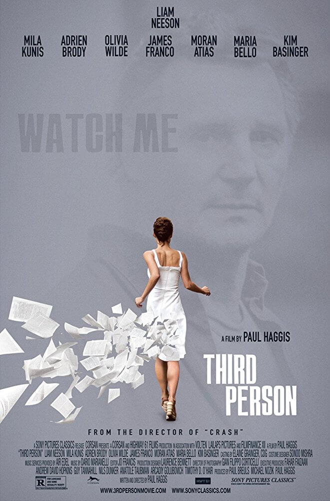 6 Films with a Southwestern Ontario Connection. Third Person movie poster.