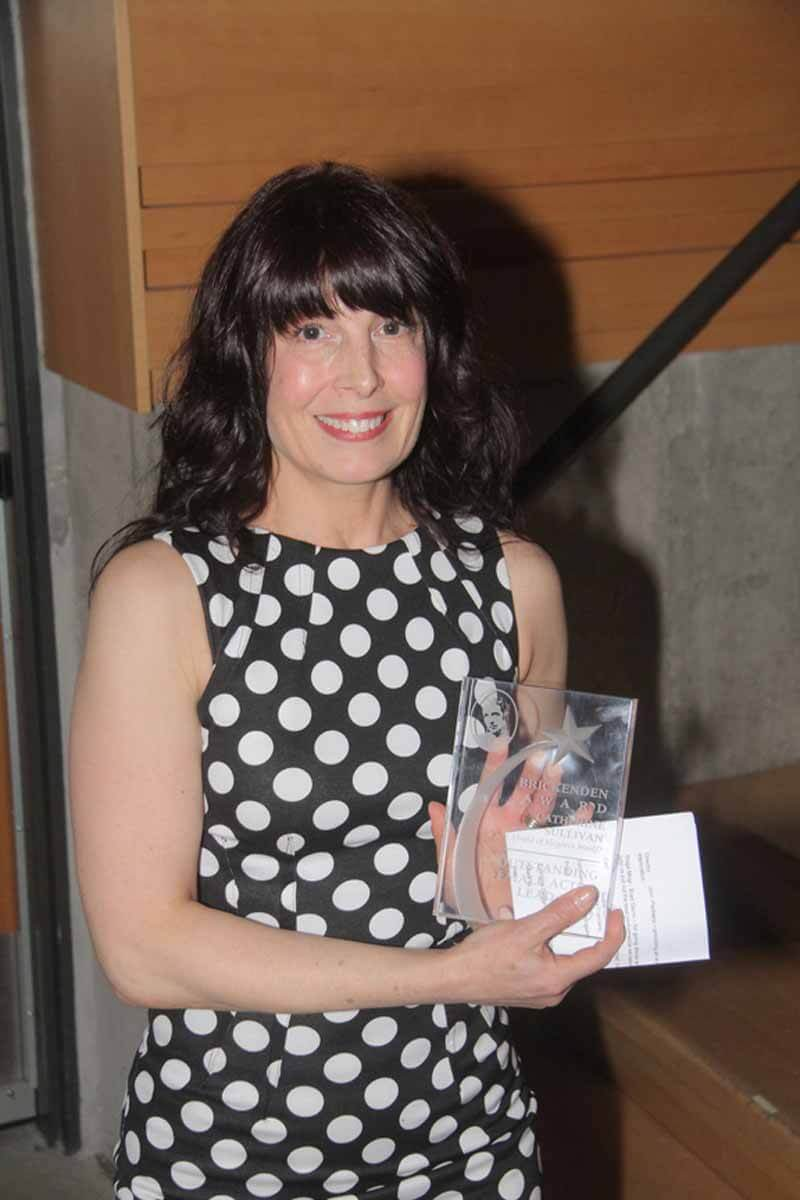 Stratford Festival Reviews. Photos from the 2017 Brickenden Awards. Catherine Sullivan at the 2017 Brickenden Awards at the Wolf Performance Hall in London, Ontario. Photo by Richard Gilmore.