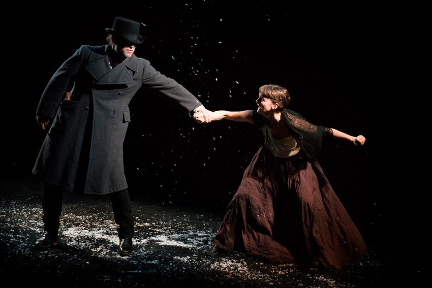 Les Misérables - Mac Fyfe (Javert), Nina Gilmour (Fantine) - photo by Elisa Gilmour