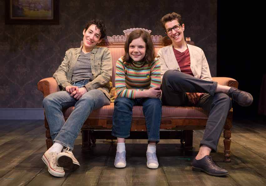 Fun Home, Toronto, Sara Farb, Hannah Levinson, Laura Condlln. Photo by Cylla von Tiedemann.