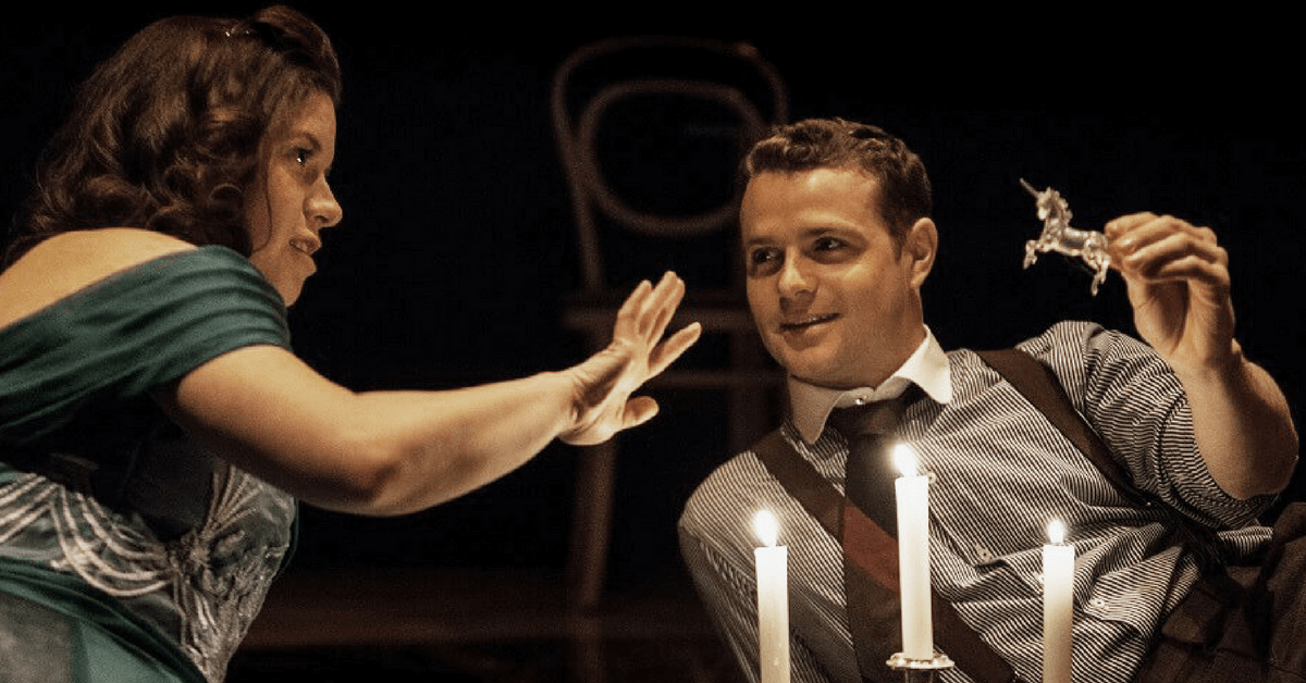 The glass menagerie, grand london,  Amy Keating, Alexander Crowther. Photo Christina Kuefner