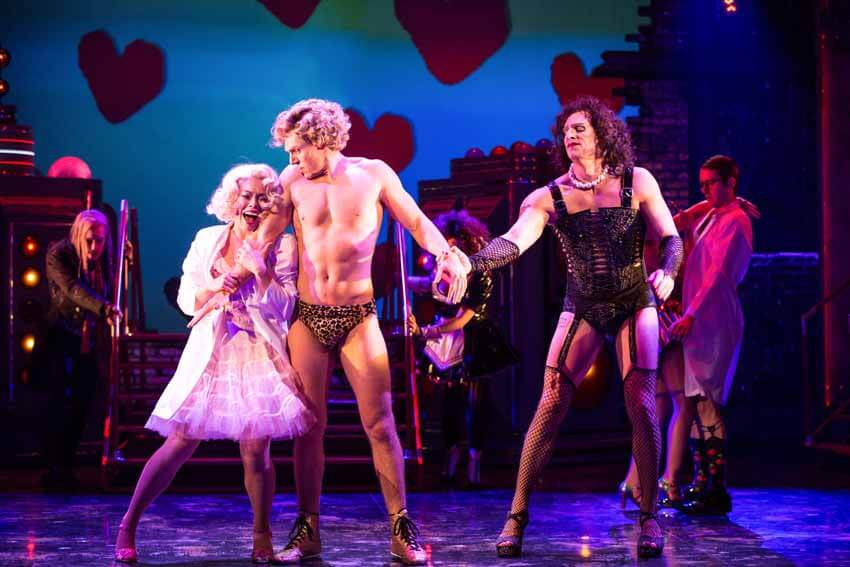 The Rocky Horror Show at the Stratford Festival, Jennifer Rider-Shaw, George Krissa and Dan Chameroy.