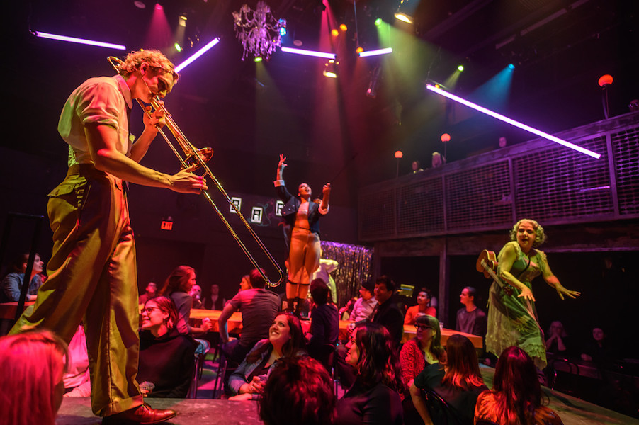 James Daly, Olivia Sinclair-Brisbane, and Charlotte Moore, Cabaret, grand theatre, dennis garnhum,